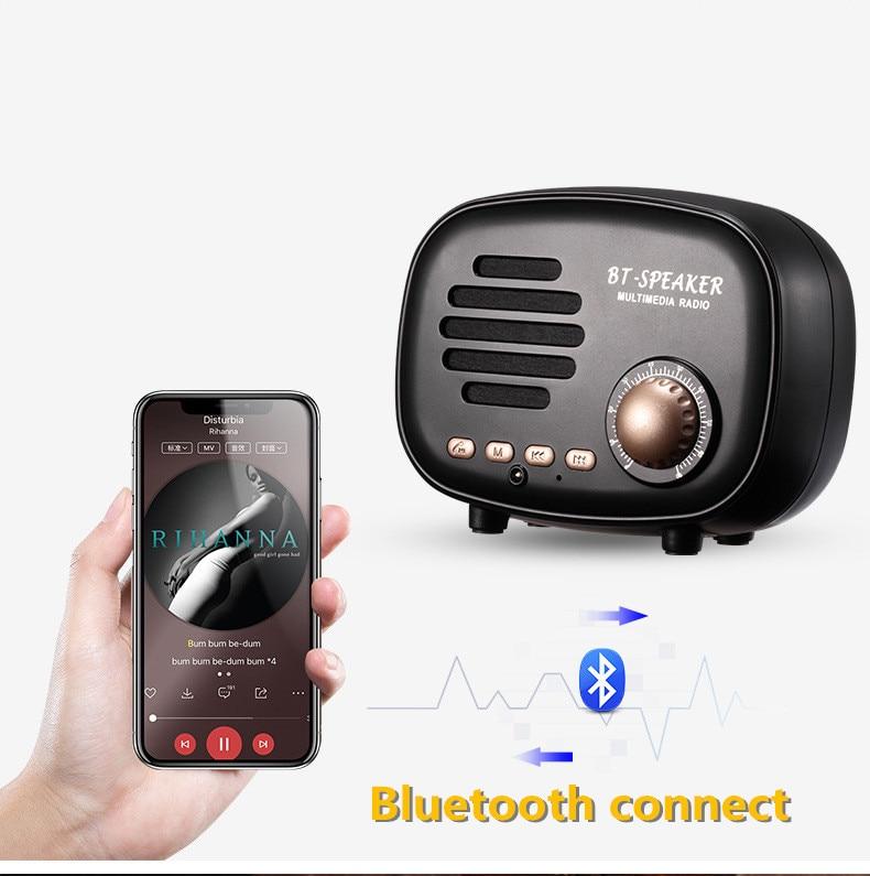 Classic radio Mini Portable Bluetooth Speaker (4)