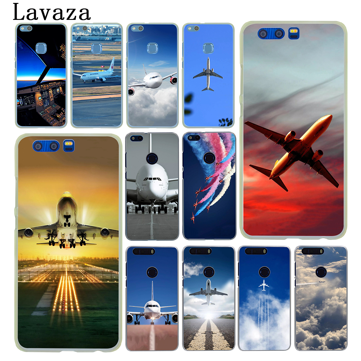 Lavaza Aircraft Airplane fly travel cloud Sky Case for Huawei Y6 Y3 Y5 II Y7 2017 Nova 2 Plus 2S 2i Honor 9 8 Lite 7 6 6A 7X 6X