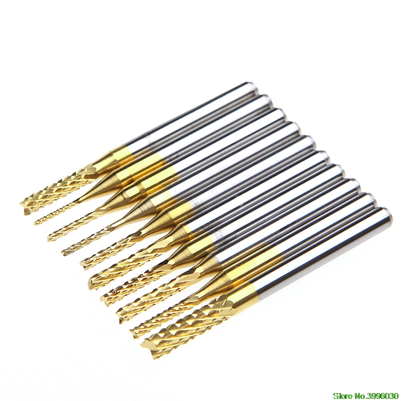 10 x 1.4mm 1//8 Inch Shank PCB Drill Bit Engraving Cutter Rotary CNC End Mill