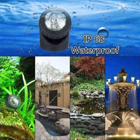 decoracao lagoa iluminacao submersivel ip65 a prova dwaterproof agua