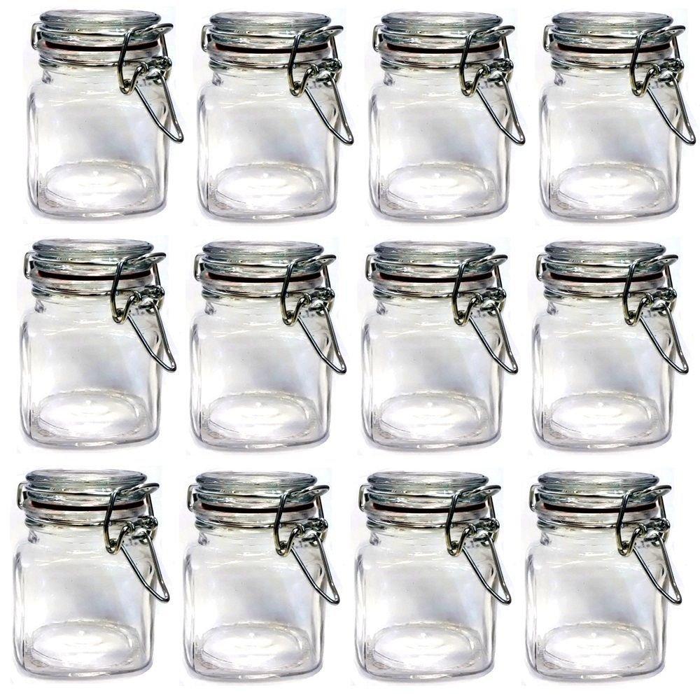 Set Of 12pcs Mini Glass Clip Top Spice Storage Jars USD33.00 For 12pcs/Each  USD2.75 In Storage Bottles U0026 Jars From Home U0026 Garden On Aliexpress.com |  Alibaba ...