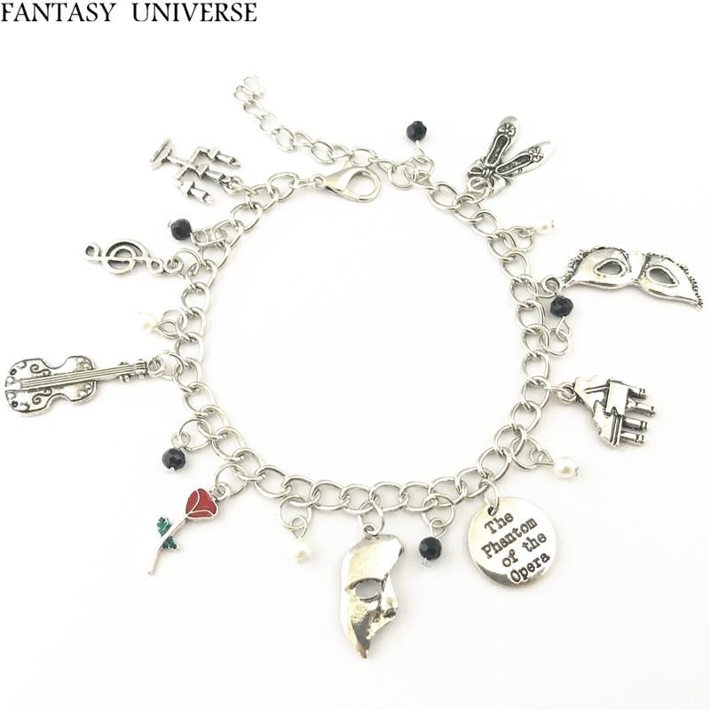 FANTASY UNIVERSE Freeshipping 20pc a lot The Phantom of the Opera charm bracelet HRFKGKDF01