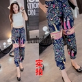 Europe and the United States leisure summer rich tree printing trousers Harlan pants ladies pants-dod38