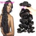 Лучшее Качество Перуанской Свободная Волна Волос Девы 4 Шт. Много 8А необработанные Перуанской Свободная Волна Волос Hj Красотки Weave Свободные Вьющиеся Переплетения