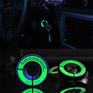 VCiiC Car styling Luminous Ignition Key Ring Switch Cover Interior Accessories For AUDI A1 A3 A4 b6 b7 b8 A5 A6 c5 c6 A7 A8(China)