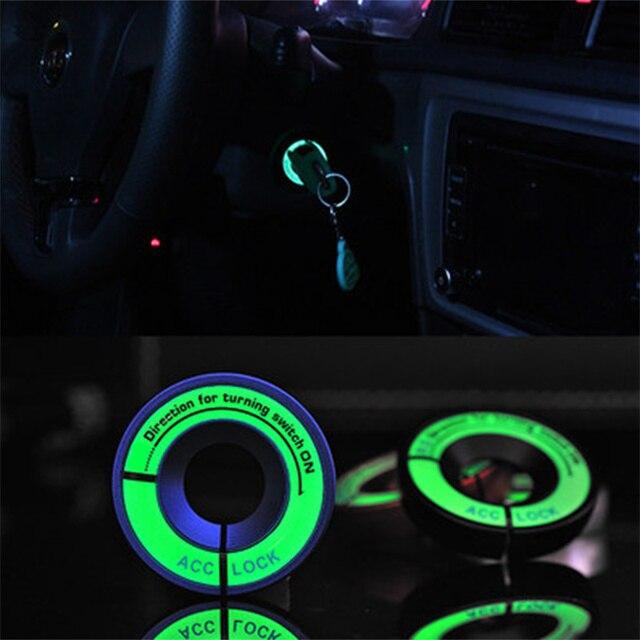 VCiiC styling Anel Tampa do Interruptor de Ignição Luminosa Chave Do Carro Acessórios Interiores Para b6 b7 b8 AUDI A1 A3 A4 A5 A6 A7 c5 c6 A8