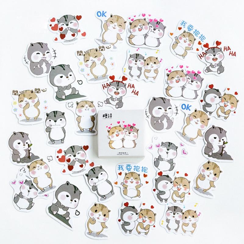 Купить с кэшбэком 45 Pcs/box Cute seal Mini Decoration Paper Sticker DIY Scrapbook Notebook Album Sticker Stationery Kawaii Girl Stickers