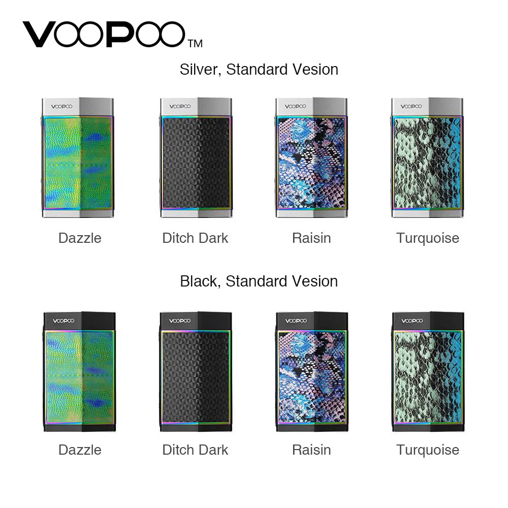 VOOPOO TOO 180W TC Box MOD W/ GENE Chip & 8-battery Charging Protection Powered By Single or Dual 18650 Battery VOOPOO TOO Mod