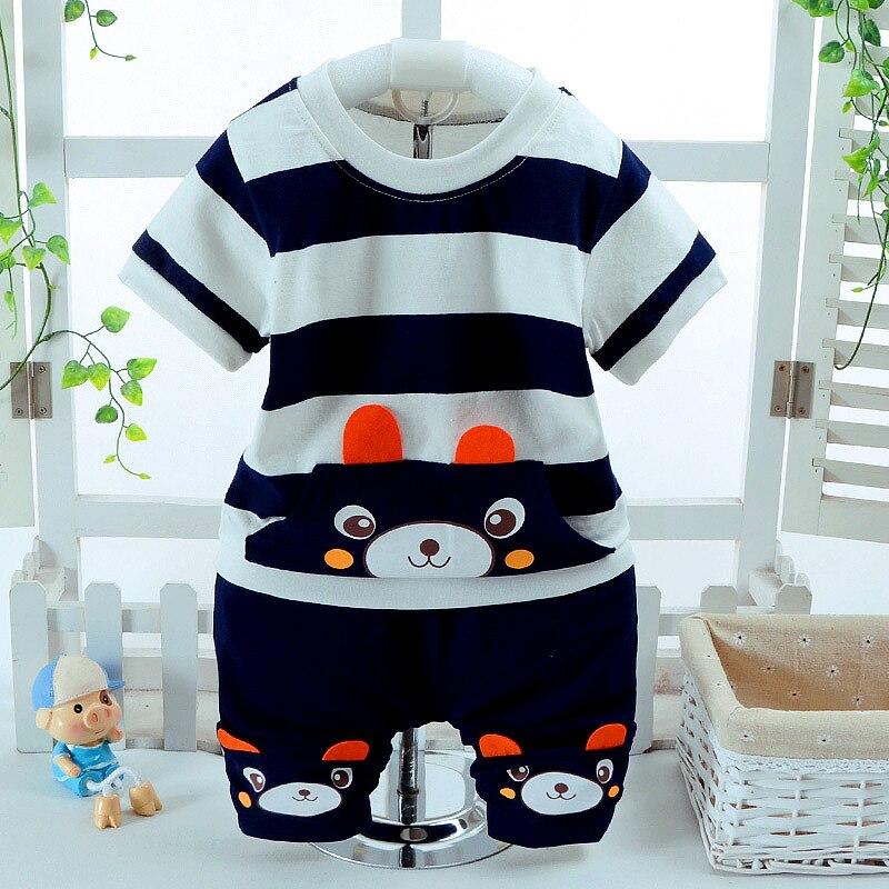 2PCS / Set novorođenčad Unisex dječja odjeća Set za ljeto pamuk - Odjeća za bebe