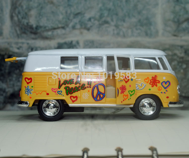 brand new yj scale car toys volkswagen hippies bus diecast metal pull back car model toy for on alibaba group