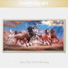 Top Artist Hand-painted High Quality 11 Horses Oil Painting on Canvas Luxury Wall Art 11 Horses Oil Painting for Living Room top artist hand painted high quality luxury wall art chinese girl oil painting on canvas vintage art chinese girl oil painting
