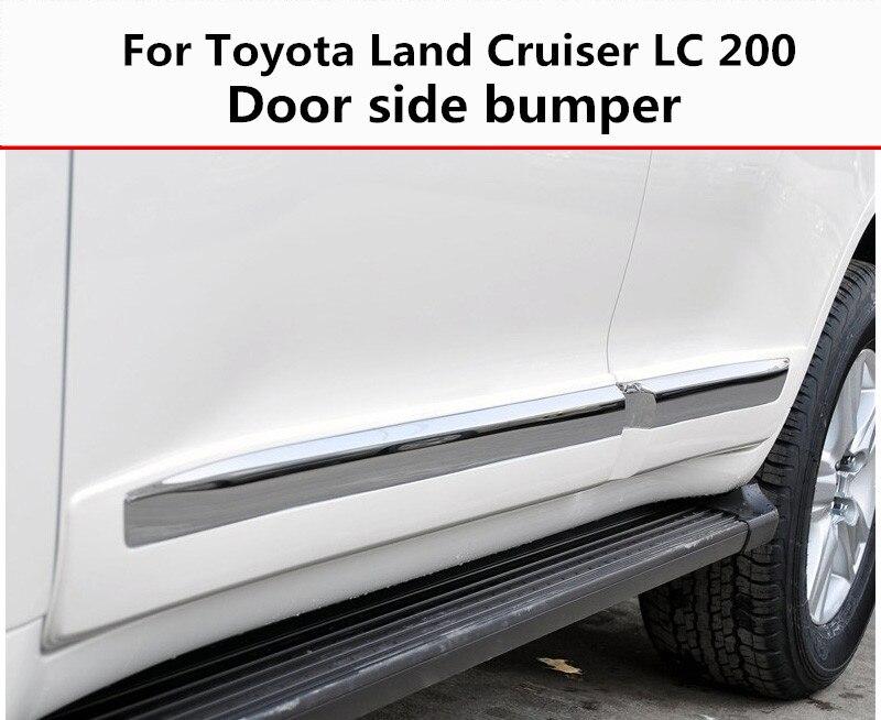 Pour Toyota Land Cruiser LC 200 08-19 bande anti-collision de porte protection latérale décoration en chrome résistant aux rayures