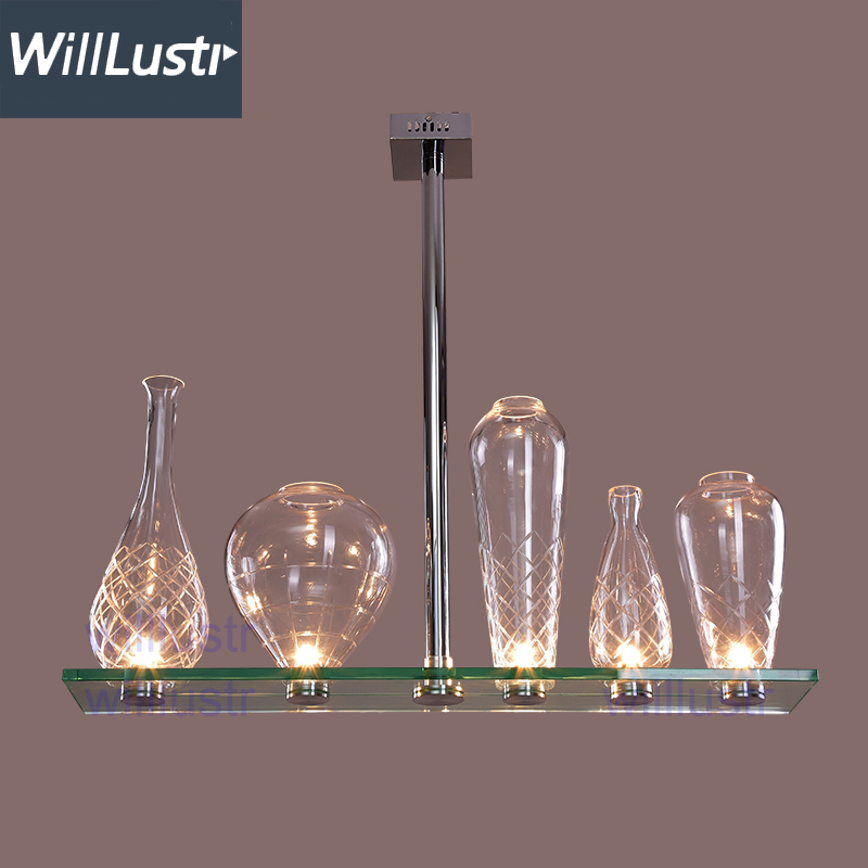 Willlustr cicatrices de luxe crystal pendant lamp Philippe Starck design engraved glass bottle glass chandelier hanging light customized crystal trophy engraved logo or words sports souvenirs grammy award glass champions rewards league cup
