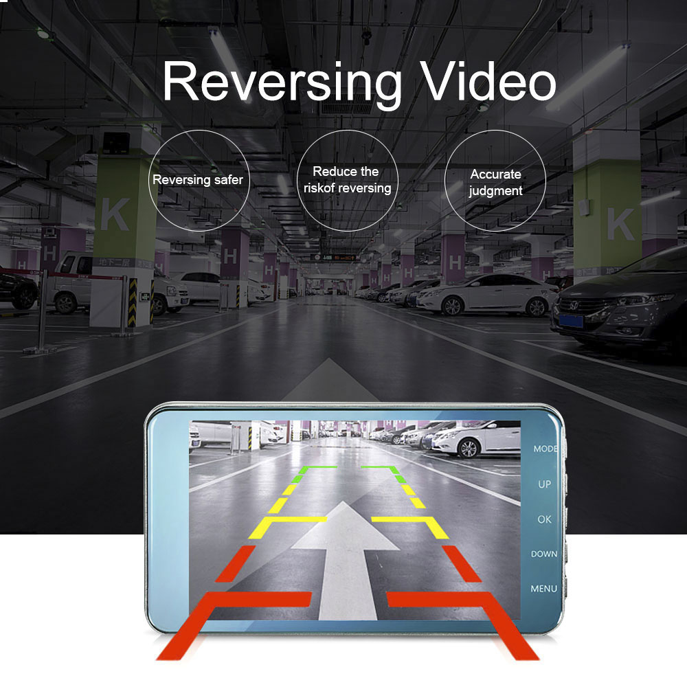 TAVIN Dash Cam Dual Lens Car DVR Vehicle Camera Full HD 1080P 4 quot Inch IPS Front Rear Night Vision Video Recorder Parking Monitor in DVR Dash Camera from Automobiles amp Motorcycles