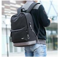 1 Piece USB Charging Line Slot Casual Travel Teenagers Student School Bags Simple Notebook Laptop Backpack