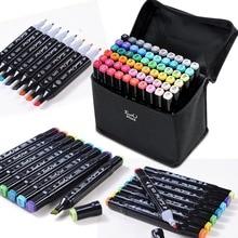 TOUCHLIIT 30/40/60/80/168/204 Color For Pigment Ink Washable DIY Marker Pens Manga Design Art Supplier Duals Tip Sketch Twin Pen
