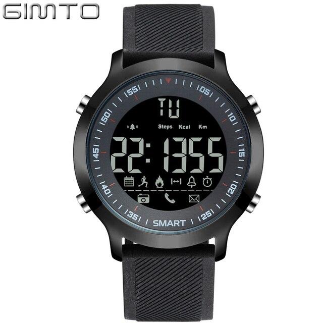 ed114cc2d0e32 GIMTO Brand Digital Sport Watch Waterproof Smartwatch Shock Military Clock  LED Male Watches Pedometer Running Stopwatch Relogio