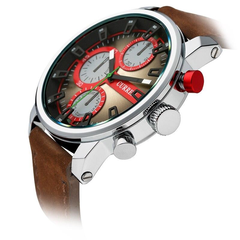 CURREN 8170 Men's Quartz Watches Top Brand Luxury Men Wristwatches Men Military Leather Relogio Masculino Sports Watch curren men watch business quartz watches top brand luxury military wristwatches leather sports relogio masculino 8156
