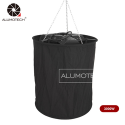 ALUMOTECH 3200K 220V 1000WX3 Tungsten Hanging Space Lighting With Softbox For Video Studio Photography Film Equipment