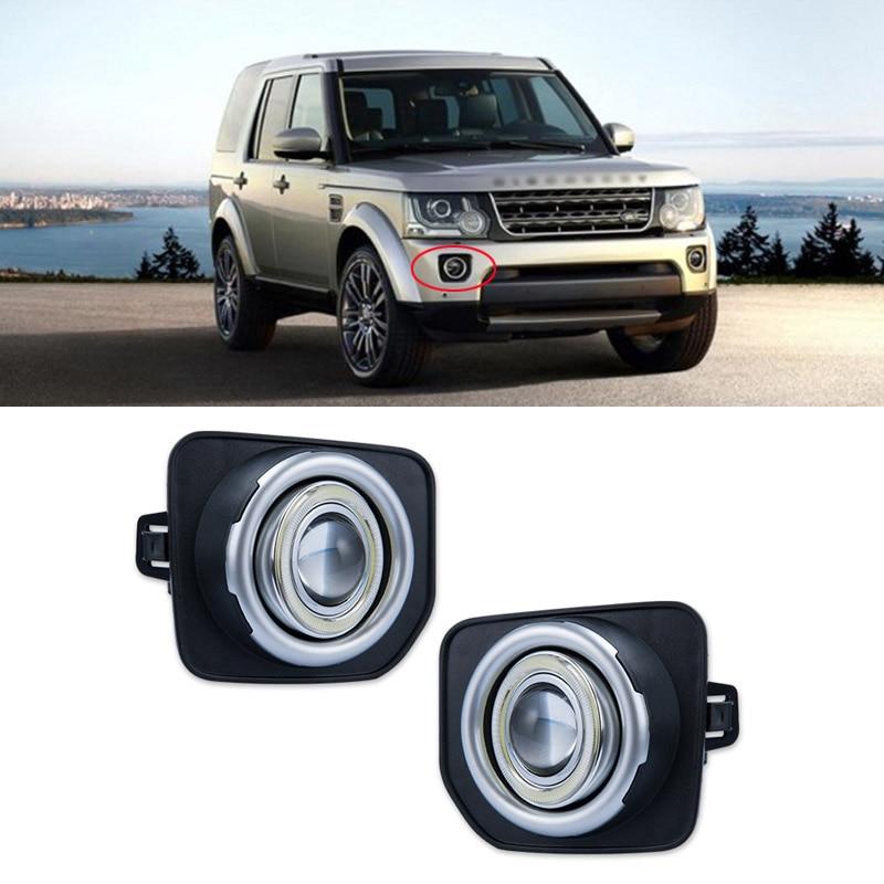 Ownsun Superb 55W Halogen Bulbs COB Fog Lights Source Angel Eye Bumper Cover For Land Rover Discovery 4 2014-2016 руководящий насос range rover land rover 4 0 4 6 1999 2002 p38 oem qvb000050