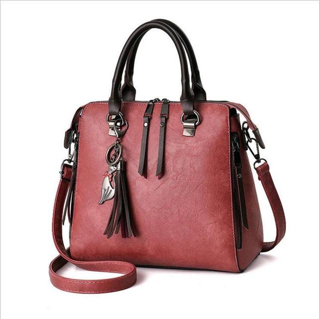 Leather Women Bag Handbags Brands European And American Style Fashion Tassel Crossbody Bags Messenger