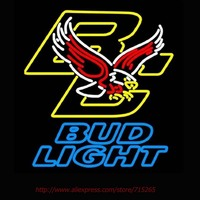 Bud Light Boston College Golden Eagles Muestra De Neón Hecha A Mano Lámparas de Neón Tubo De Vidrio Real Tiendas Exhiben Deco Luces de Neón 24x20