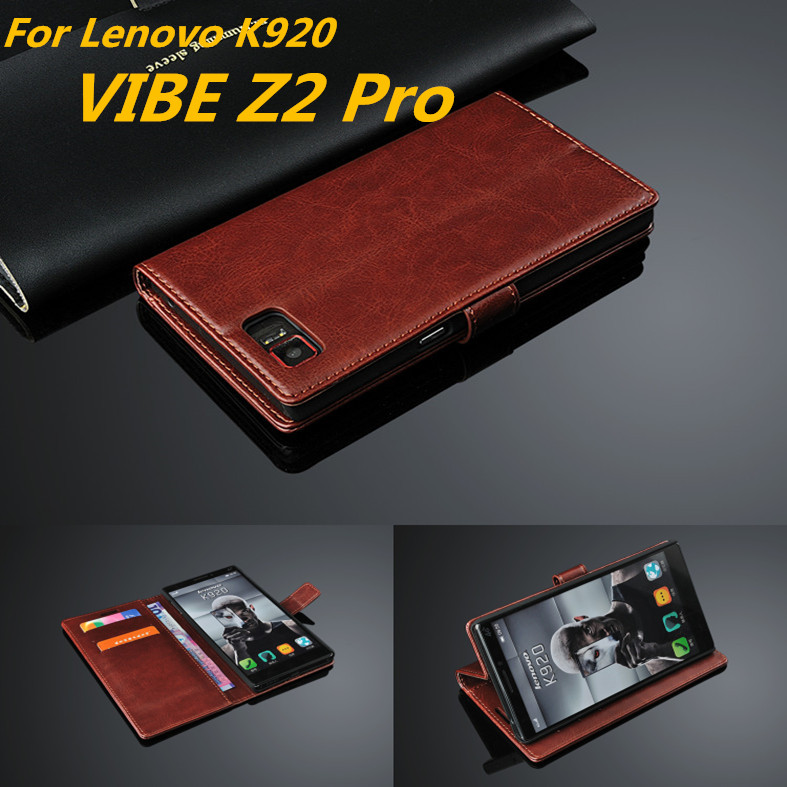 For fundas Lenovo VIBE Z2 Pro card holder cover case for Lenovo VIBE Z2 Pro K920 leather phone case ultra thin wallet flip cover