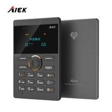 2016 Новинка Ultra Slim карт Телефон AIEK E1 сотовый телефон мобильный телефон GSM Bluetooth Английский Русский Арабский Клавиатура Multi Язык