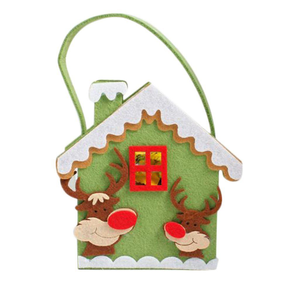 Christmas candy bags Candy Gift Bag Biscuit Gift for children Christmas House Pattern Christmas Party Decoration Bag Hang on t