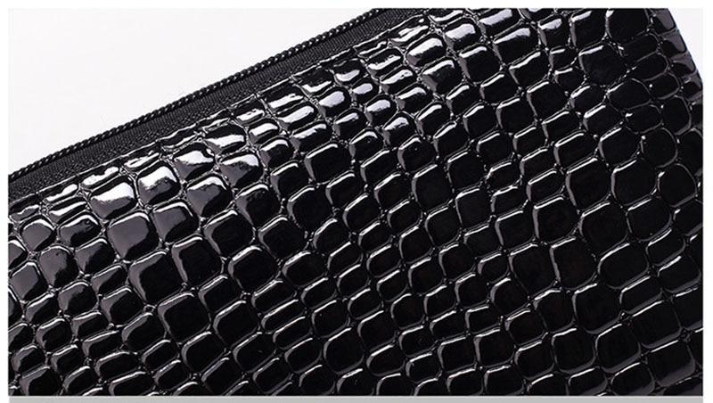 New Mini Day Clutches Women's Bag Korean Version Crocodile Pattern Clutch Bag Ladies Mobile Phone Bags Wallet PU Leather Handbag (12)
