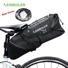 NEWBOLER 자전거 가방 자전거 안장 가방 파니 사이클 사이클 mtb 자전거 시트 가방 가방 액세서리 2018 8 10L 방수