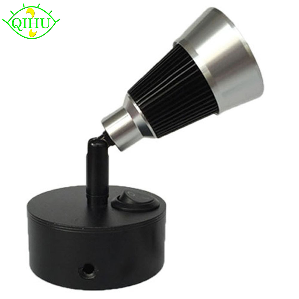 3W Aluminum LED Bedside Lights Reading Lamp Wall Mounted ...