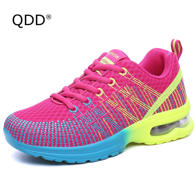 2017 Women Running Shoes Female Sports Shoes Autumn Lightweight Mesh Outdoor Walking Shoes Woman Zapatillas Mujer Sneakers