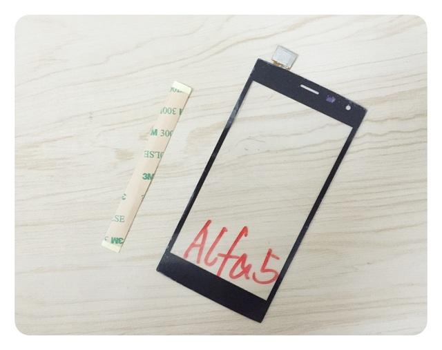 Tela Sensível Ao Toque de Rastreamento gratuito Para Leagoo Alfa 5 do Painel de Toque Digitador de Vidro Sensor + 3 M Adesivo
