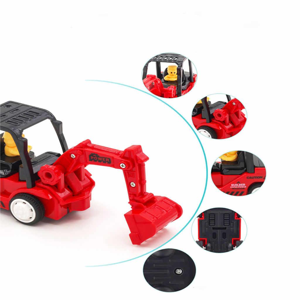 Модель автомобиля трактор грузовик мини инженерные транспортные средства строительство фрикционные грузовики детская машинка игрушка 4 шт. гараж для игрушечных автомобилей D301222