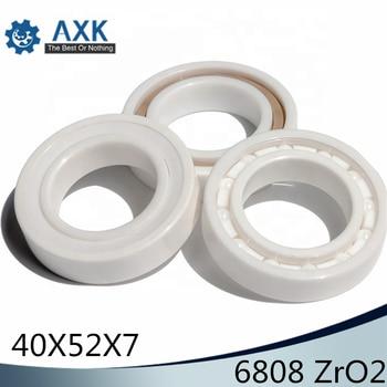 6808 Full Ceramic Bearing ( 1 PC ) 40*52*7 mm ZrO2 Material 6808CE All Zirconia Ceramic 6808 Ball Bearings