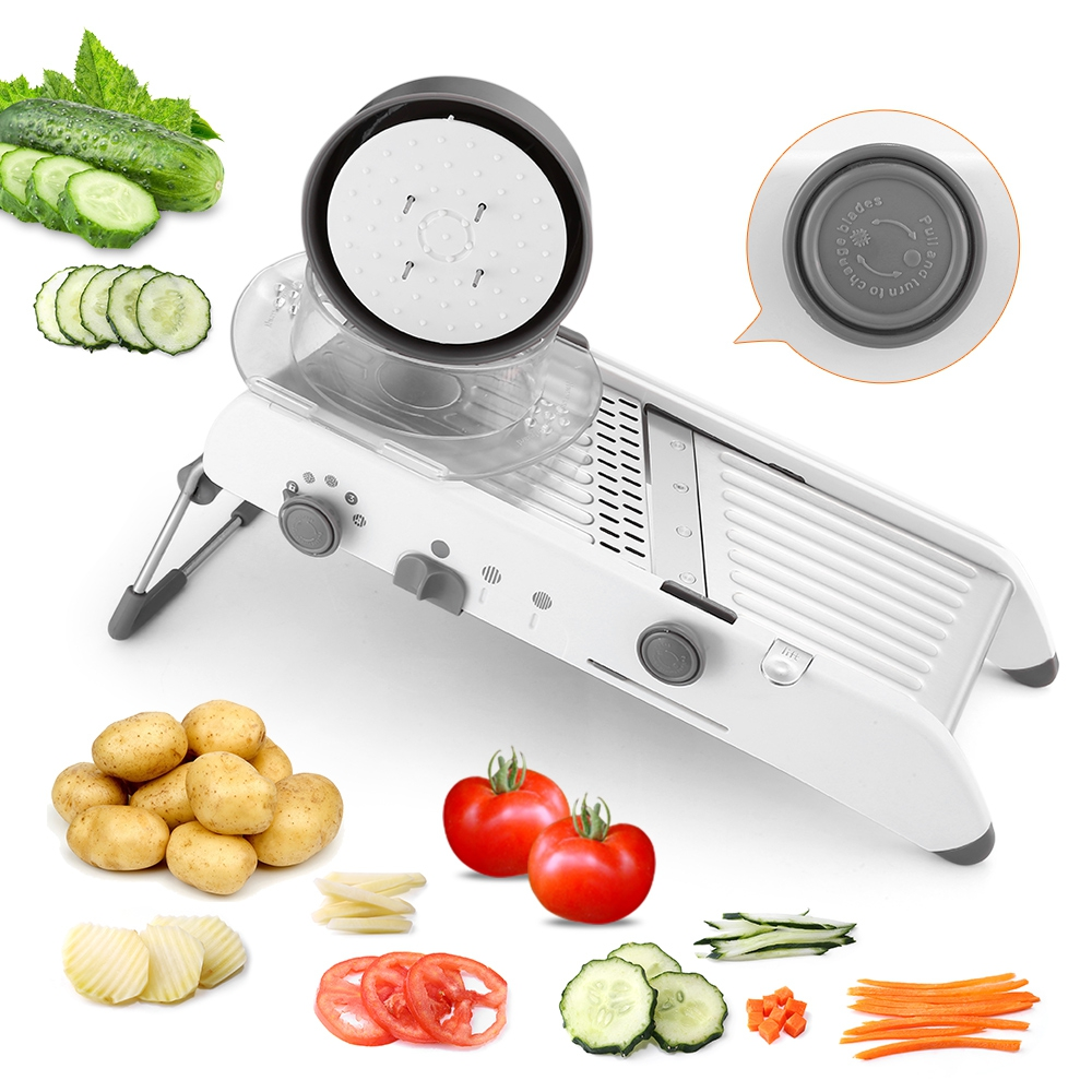 18 типов Применение мандолина измельчитель для овощей измельчители нож из нержавеющей стали лук, картофель резак для моркови терка для кухн...