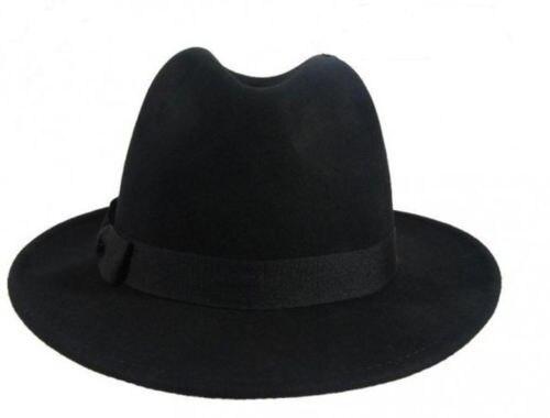 3c21523aeae11 Men Women Wool Felt Fedora Hats Soft   Crushable Stingy Brim Derby Trilby  Black-in Fedoras from Apparel Accessories on Aliexpress.com