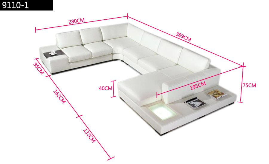 Aliexpress Buy Black Leather Sofa Modern Large Size U Shaped Set With Light Coffee Table Fashion Simple Corner Living Room Sofas From