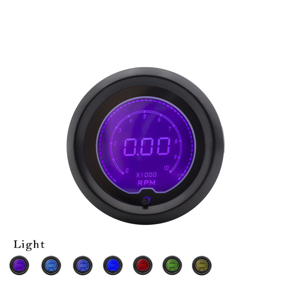 Electronic Speedometer Gauges : Quot mm color selectable lcd for digital tachometer