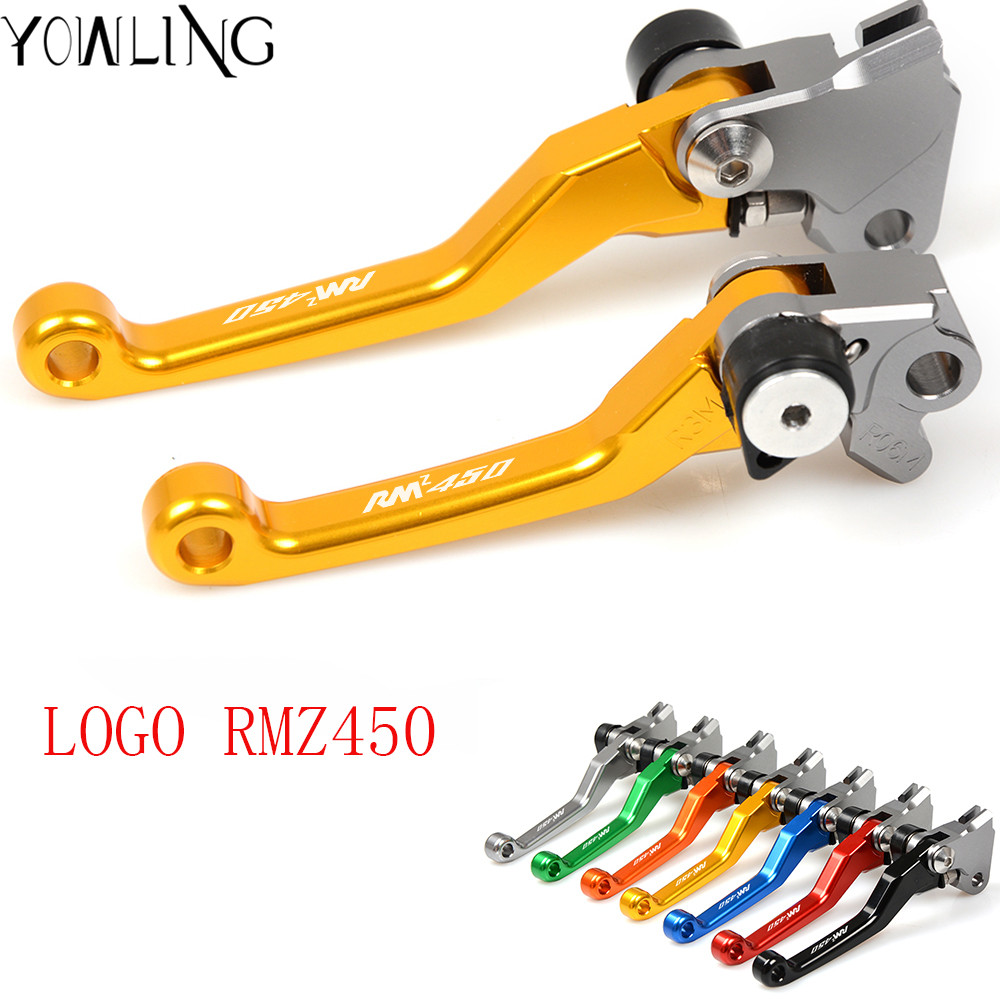 CNC Pivot dirt Bike Brake Clutch Lever Handle For suzuki RMZ 450 2005 2006 2007 2008 2009 2010 2011 2012 2013 2014 2015 2016 billet adjustable long folding brake clutch levers for kawasaki z750 z 750 2007 2008 2009 2010 2011 07 11 z800 z 800 2013 2014