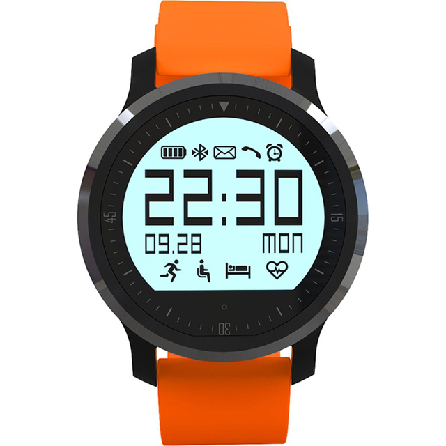 F68 Bluetooth 4.0 Sport Smart Watch Heart Rate Track Wristwatch 1.5 Inch Touch Screen Waterproof IP67 Watch For IOS Android