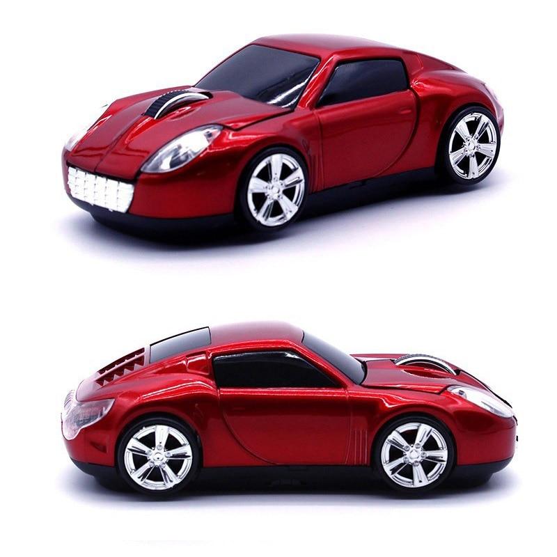 3D 2.4 GHz Wireless Sport Car Shape 1600 DPI Usb Ottico Freddo Style Car Gaming Mouse Mouse per PC Laptop Computer Rosso/Blu/Grigio