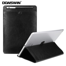 DOWSWIN For iPad 2 3 4 Case With Pencil Holder,Pu Leather for Pro 9.7 Air 1 Sleeve Bag 10.5