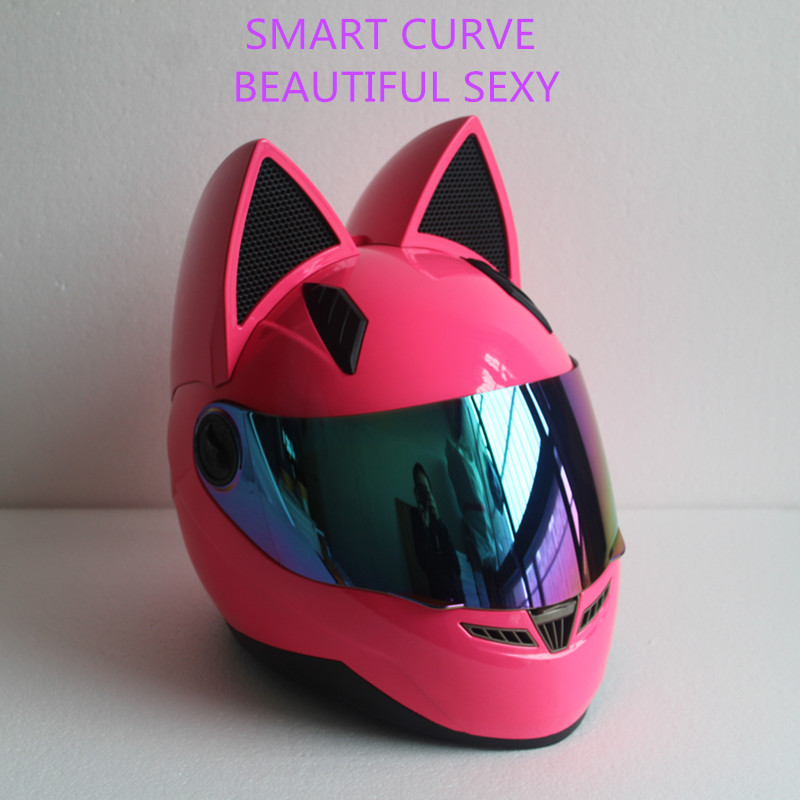 Full face motorcycle cat ear helmet 1