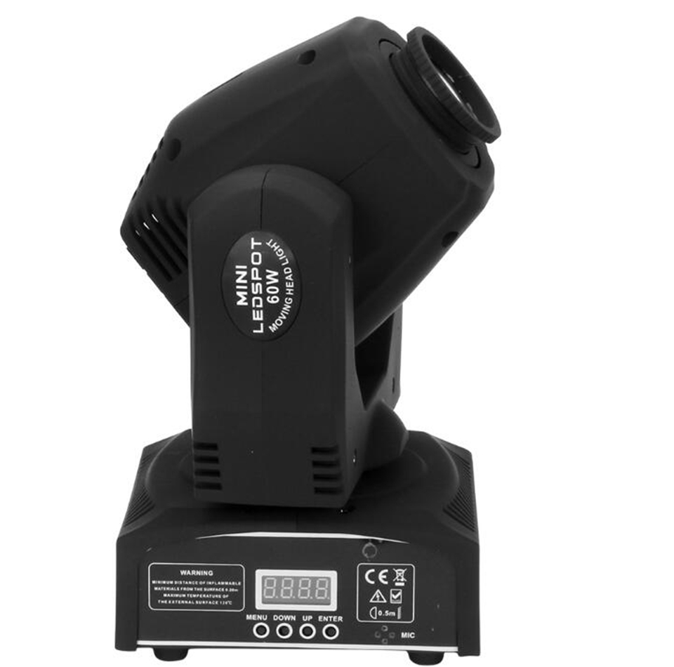 60W LED Spot Moving Head Light/ dj controller LED lamp Light 60W gobo led moving head lights super bright LED DJ disco light