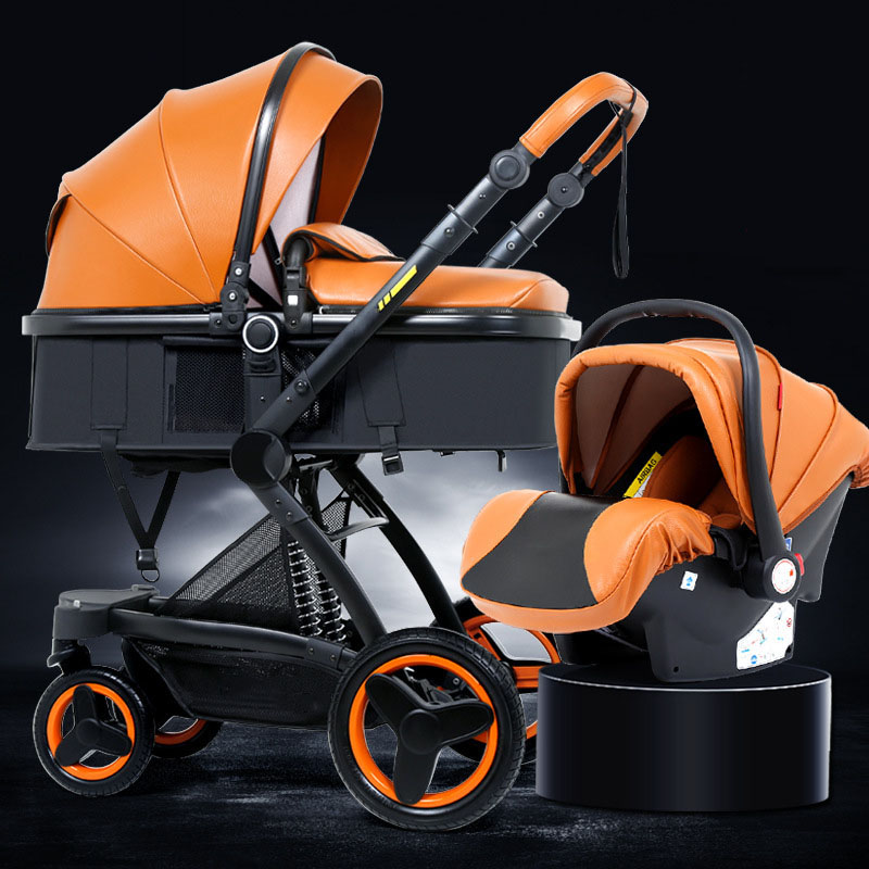 High landscape baby stroller basket can sit reclining folding two-way shock baby carriage 3 in 1 strollerHigh landscape baby stroller basket can sit reclining folding two-way shock baby carriage 3 in 1 stroller