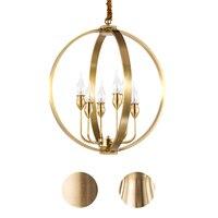 American postmodern contracted restaurant full copper chandelier porch light study bedroom