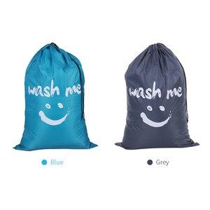 Image 4 - Organizator torba duża składana nylonowa torba na pranie brudne na ubrania torba z zamknięciem na sznurek do pralni domowej torba