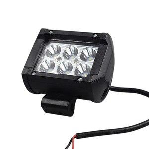 Image 3 - Doble fila de alta luminosidad LED 18w foco de trabajo Para coche faros de motocicleta modificada lámparas LED Para coches Luces Led Para Auto